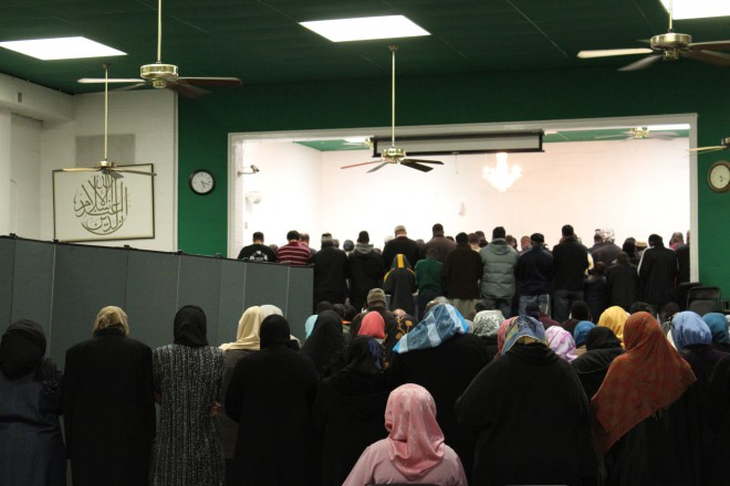AFTER. Notice how all the women are relegated to the back of the prayer room