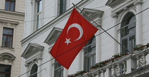 Turkish flags are seen all over Vienna now
