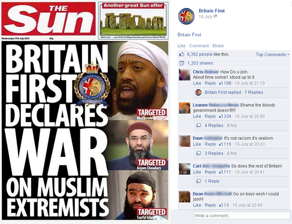 Britain First Fake Story