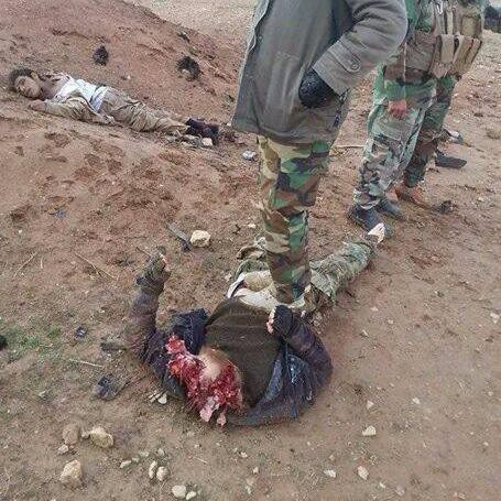 ALLEGEDLY Iraqi soldiers beheading and disemboweling ISIS terrorists
