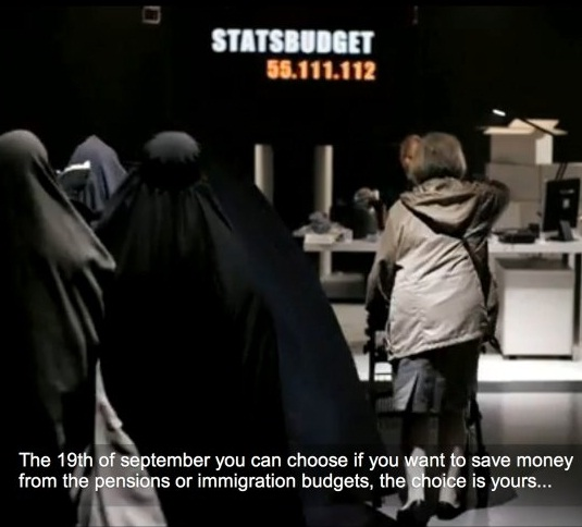 A scene from a Sweden Democrat TV commercial that was banned as 'racist'
