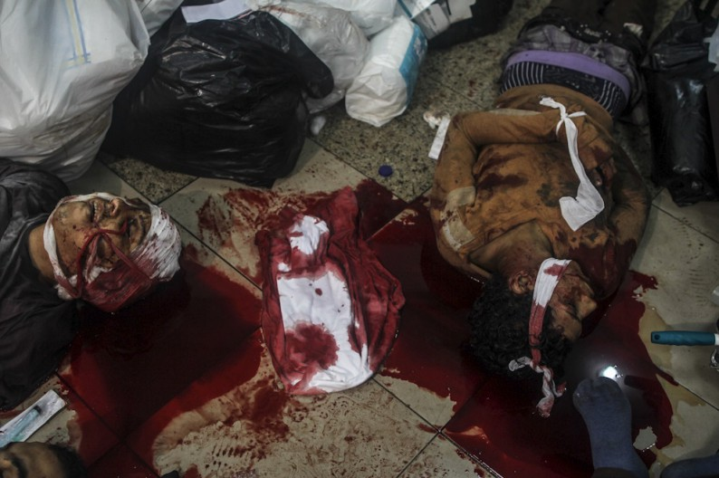 A few of the many Egyptians killed in the streets by the Muslim Brotherhood