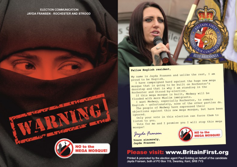 Britain First election leaflets like this go undelivered