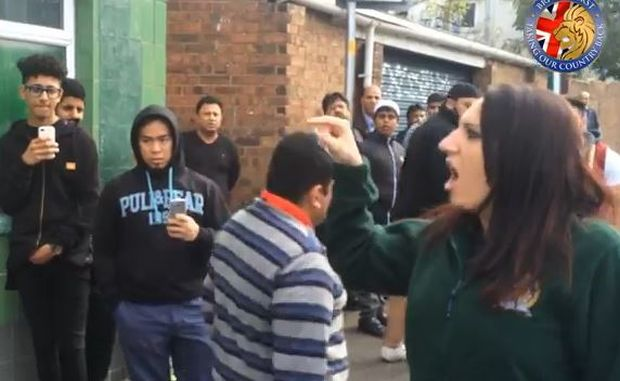 Jayda Fransen confronts Muslim community