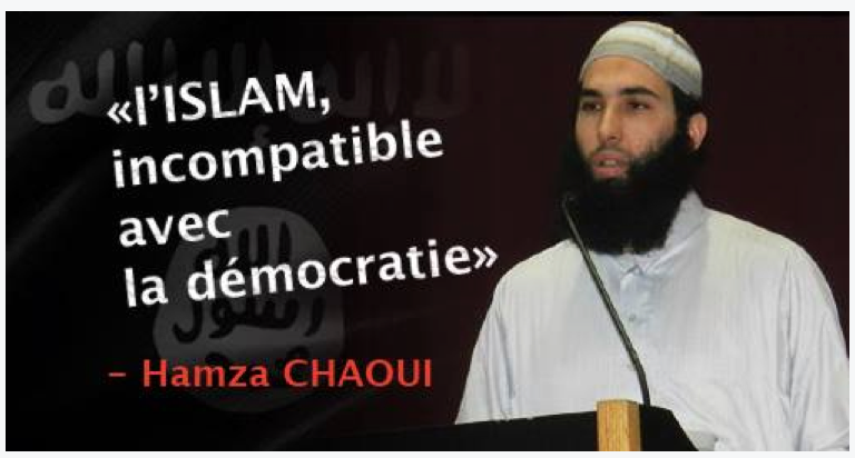 """Chaoui says """"Islam is incompatible with democracy"""". TRUE!"""