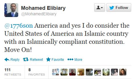 Muslilm Brotherhood member and Former Obama advisor, Mohamed Elibiary