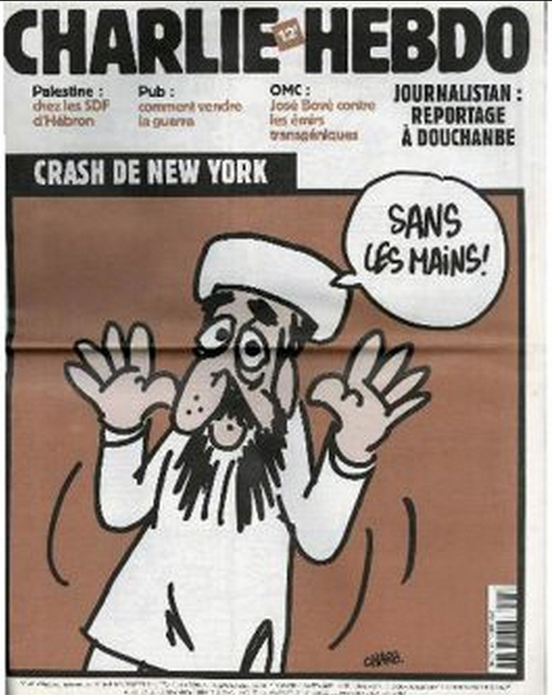 Osama Bin Laden bragging about carrying out the attacks on New York with 'no hands.'