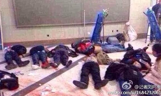Chinese victims of recent Uighur Muslim terrorist attack on train station