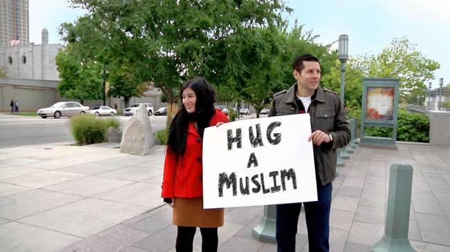 Dean Obeidallah, so-called Muslim comedian (right)