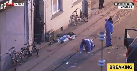 Photo of Dead Islamic Terrorist on Ground in Nørrebro