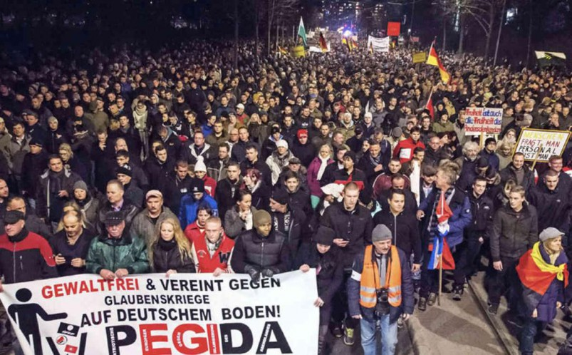 Upwards of 40,000 have been turning out for the anti-Islamization PEGIDA rallies