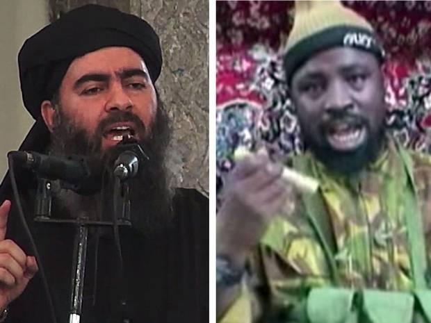 Abubakar Shekau and Abu Bakr al-Baghdadi