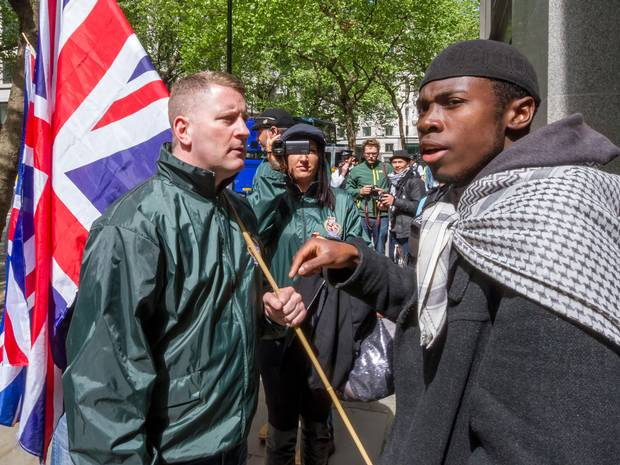 Confronting Paul Golding of Britain First