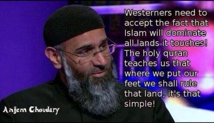 British Muslim hate preacher, Anjem Choudary