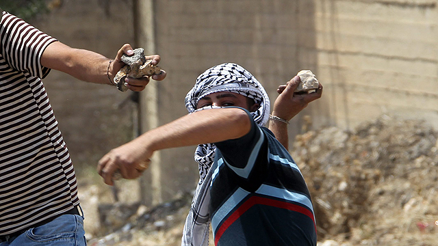 Image result for muslims throwing rocks