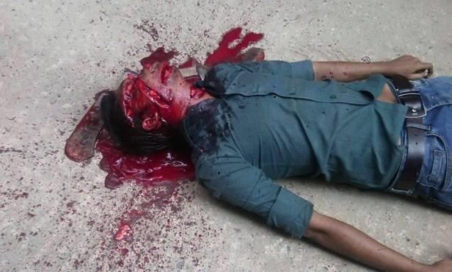 The hacked head of Bangladeshi blogger Washiqur Rahman