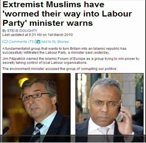 Extremist Muslims UK Labour Party - sharia law UK MCB