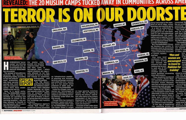 NRA Says Islamic Extremists Have Seized Control Of US Cities - Terrorist training camps in us map
