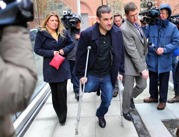 One of the Boston Marathon Bombing survivors who must get to the courtroom on his own, no government assistance