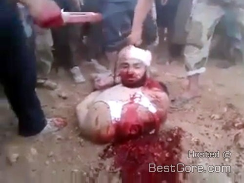 [Chaos evil from the pit of hell ]  UNCENSORED! The Islamic State's (ISIS) quickie beheading