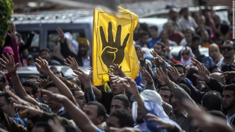 Angry Muslim Brotherhood supporters