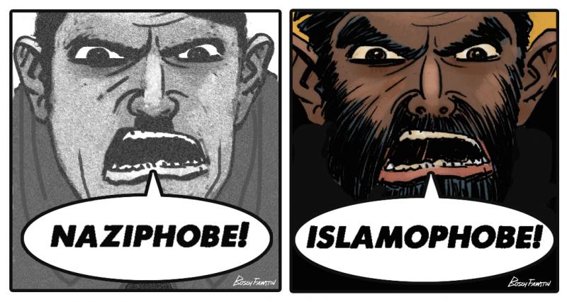 THEN naziphobe NOW islamophobe