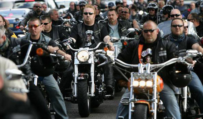 Funeral For Murdered Hells Angel Gerard Tobin
