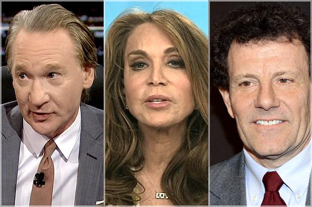 Bill Maher, Pam Geller, Nicholas Kristof