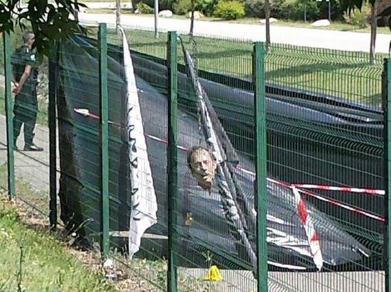 Herve Cornara's severed head