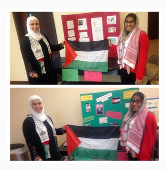 Abdulazeez sister stands with the flag of Hamas