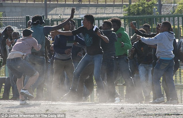 Muslim illegals rioting in Calais
