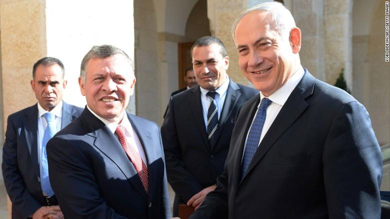 Jordan's King Abdullah II and Israel's PM Benjamin Netanyahu