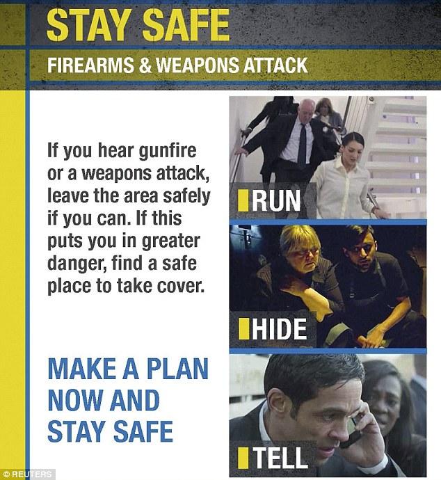 RUN AND HIDE - UK anti-terrorism plan