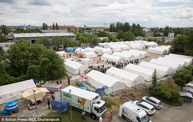 German government destroys a park in Dresden, location of several large anti-Islam PEGIDA protests, in order to put up a tent city for Muslim illegals