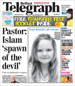 Belfast-Telegraph-Islam-spawn-of-devil