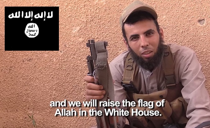 ISIS-In-America-Islamic-Terrorists-Take-Black-Flag-Photo-At-White-House-Threaten-To-Bomb-Obama