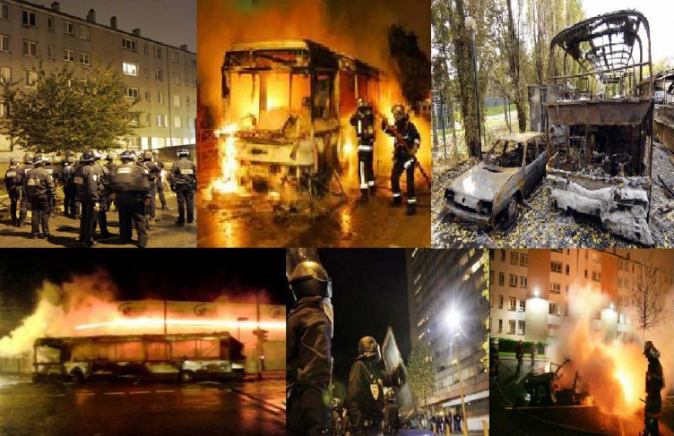Muslim 'youth' torch cars and buses and riot in the streets several times a year