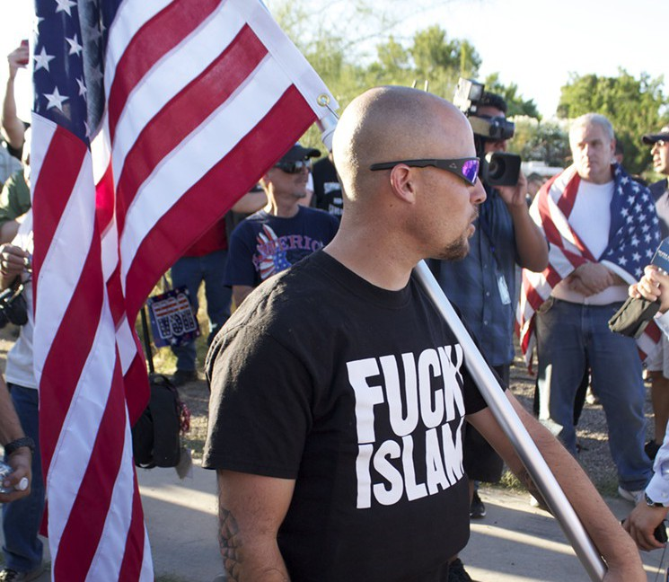Jon Ritzheimer at anti-Islam rally in Phoenix