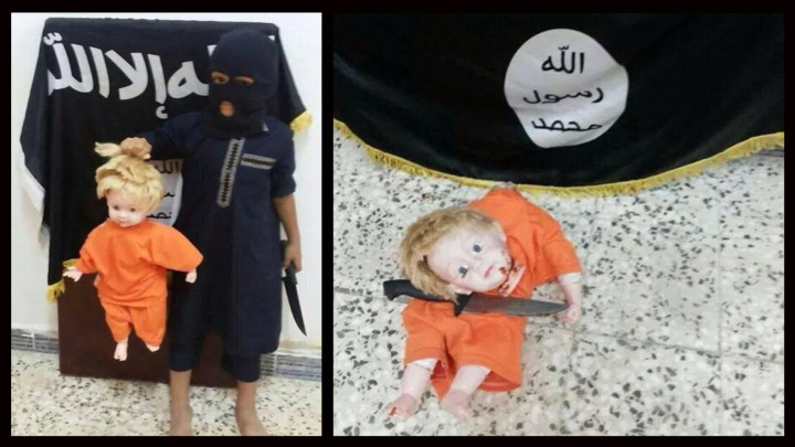 ISIS uses blonde-haired dolls to teach children how to behead