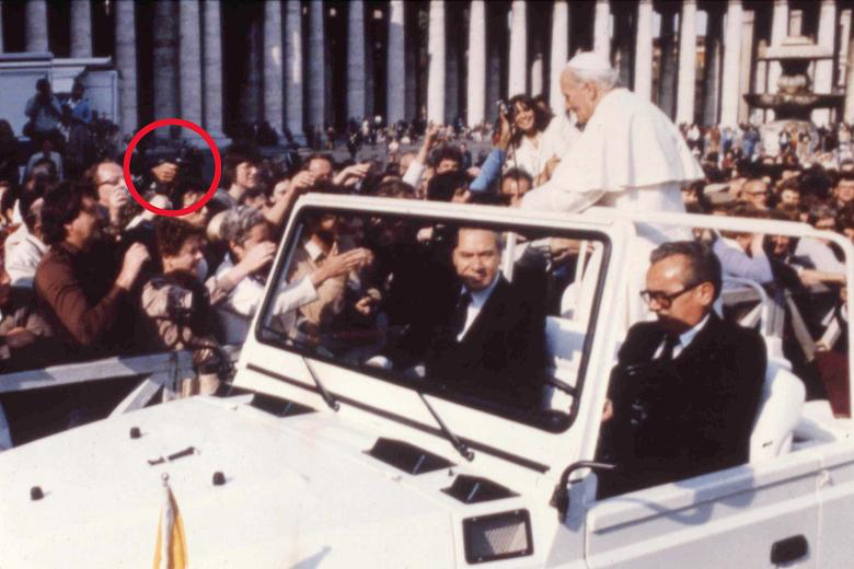 1981 The Muslim gunman as he aimed his gun just before shooting Pope John 23rd