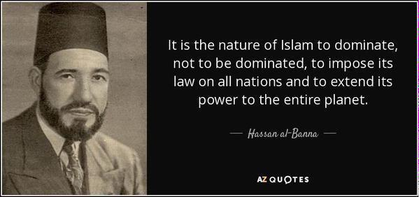 Hassan al-Banna, founder of the Muslim Brotherhood, parent company of MPAC, CAIR, ISNA, ICNA, MSA, and more