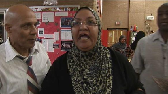One of the angry Muslim bagheads who attended the school board meeting