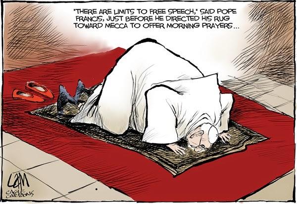Pope on Prayer Rug