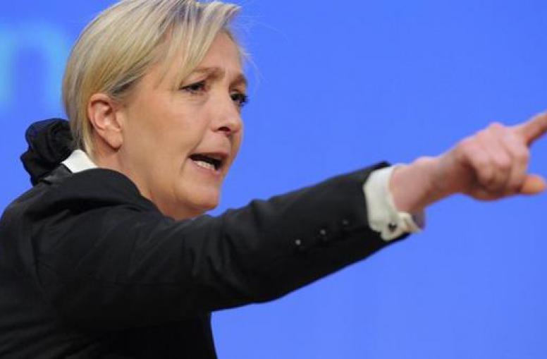 Marine Le Pen, frontrunner for president in France