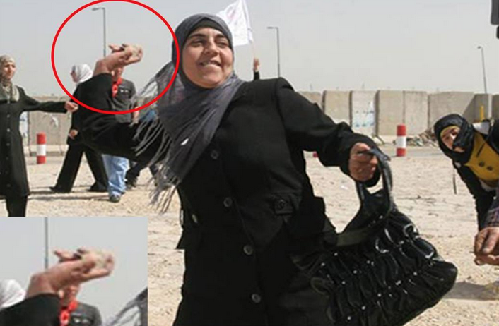 palestinian-woman-throwing-rocks