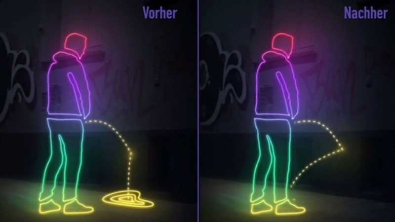 German city of Hamburg uses water-repellent paint to splash public urinators with their own pee