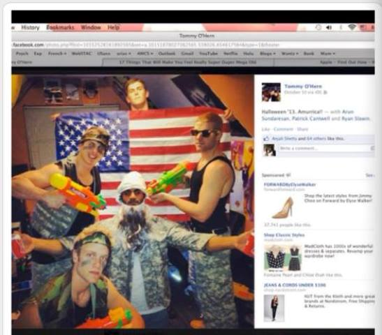 Washington University in St. Louis has gotten itself into a controversy over a 'racist' Halloween costume. Around five students from a WU fraternity were dressed as 'Seal Team 6' soldiers and Osama bin Laden.