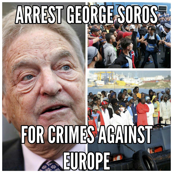 Soros has demanded that Europe take in at least 1 million Muslims per year