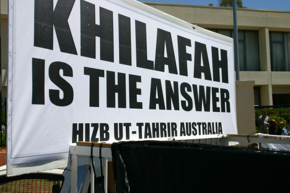 Hizb-ut Tahrir calls for turning Australia into an Islamic Caliphate (like ISIS)