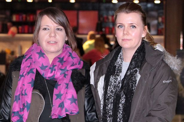 Survivors: Mariesha Payne and Christine Tudhope narrowly escaped dying in the theatre
